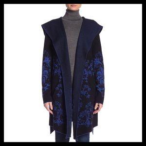 Vertigo Ornate Baroque Hooded Sweater Cardigan